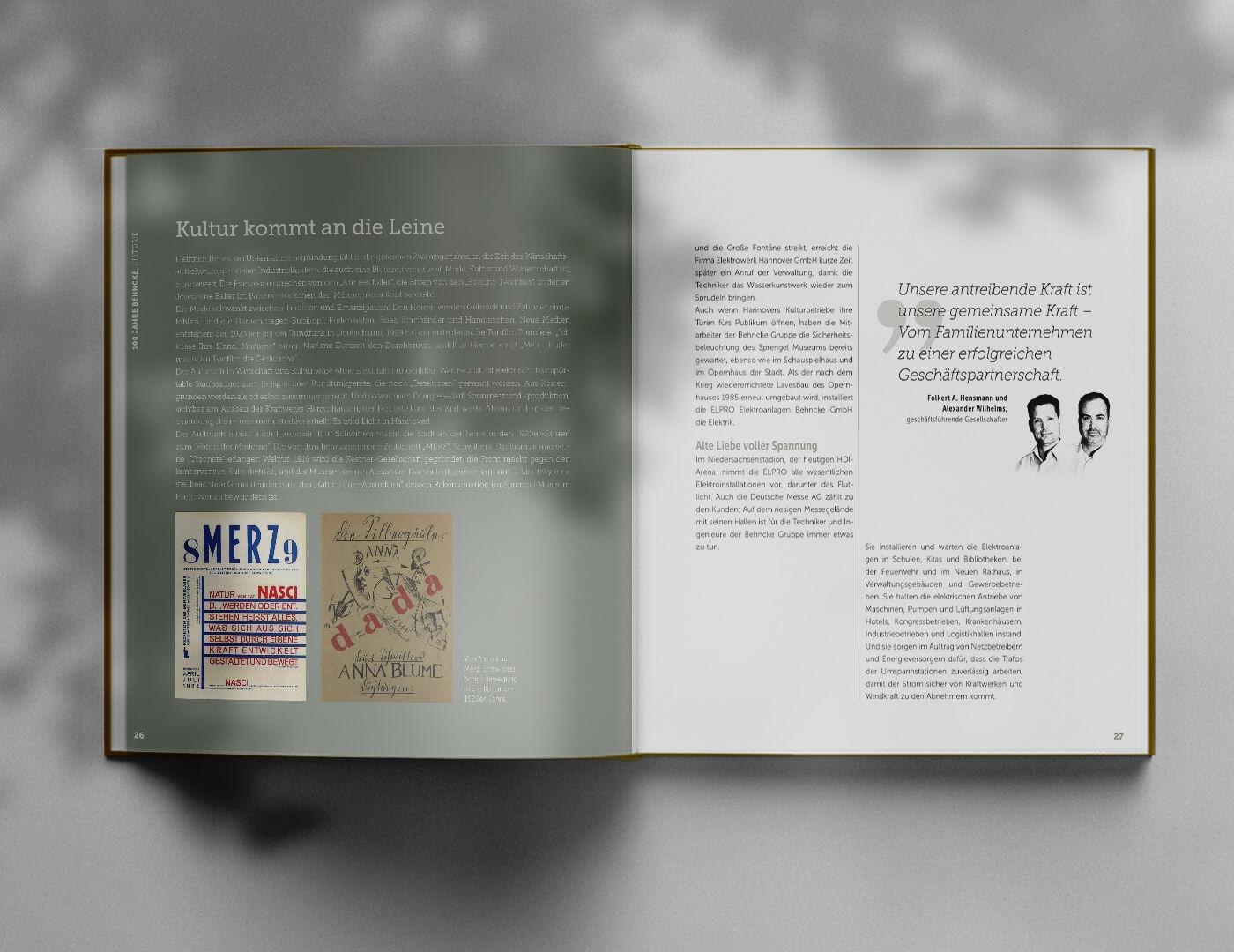 100 Jahre Behncke Hannover Editorial-Design