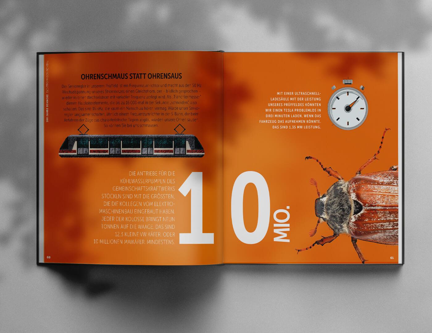 100 Jahre Behncke Hannover Editorial-Design und Infografik